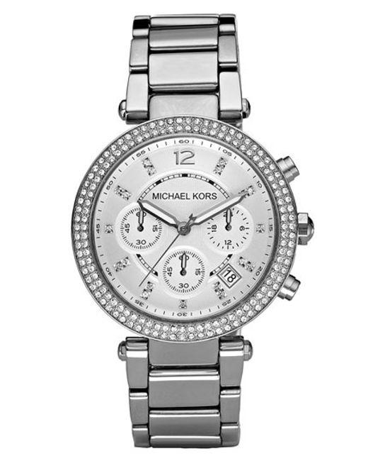 Michael Kors | Metallic Michael Kors 'parker' Chronograph Bracelet Watch | Lyst