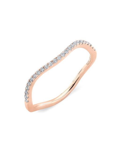Bony Levy | Pink Stackable Wavy Diamond Ring (nordstrom Exclusive) | Lyst