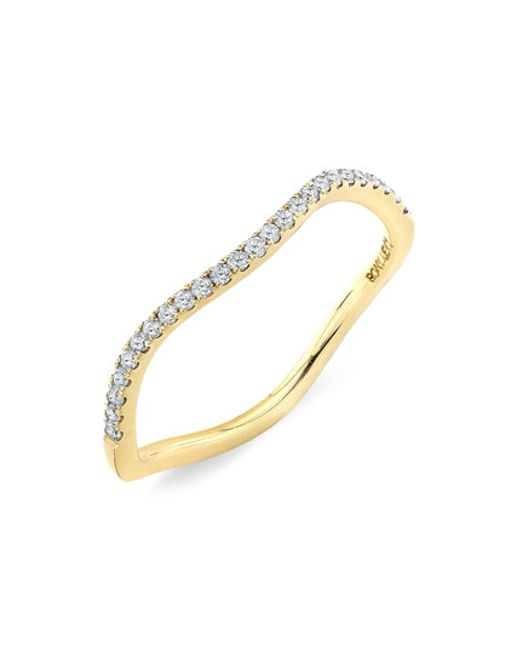 Bony Levy | Yellow Stackable Wavy Diamond Ring (nordstrom Exclusive) | Lyst