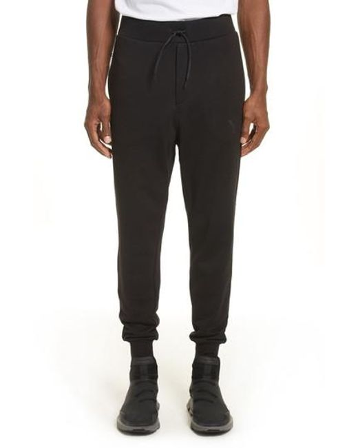 Y-3 - Black Classic Logo Print Jogger Pants for Men - Lyst