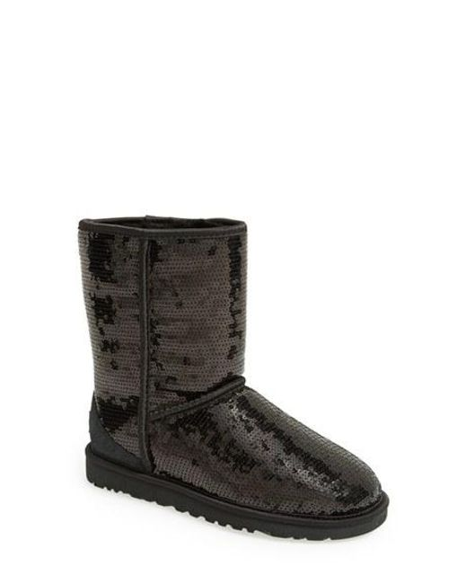 UGG | Black Ugg Australia 'classic Short With Sparkles' Boot | Lyst