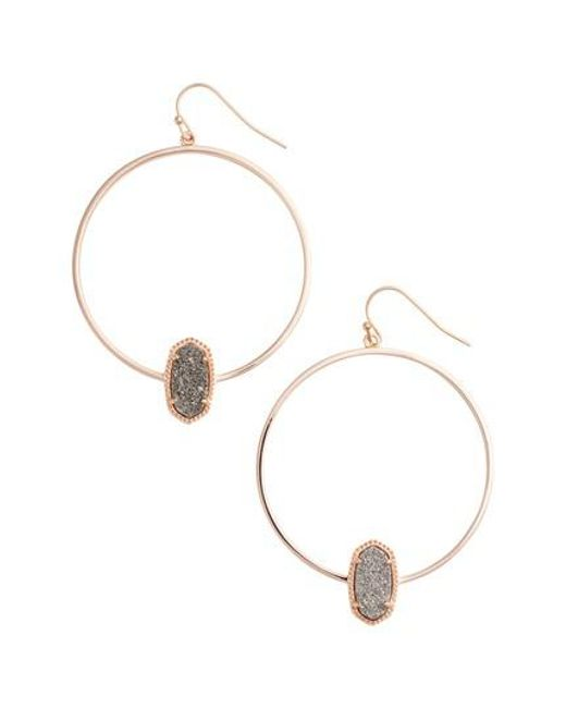 Kendra Scott | Metallic Elora Frontal Hoop Earrings | Lyst