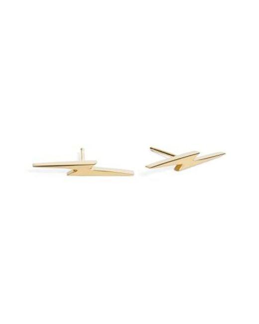 Shinola | Metallic Bolt Stud Earrings | Lyst