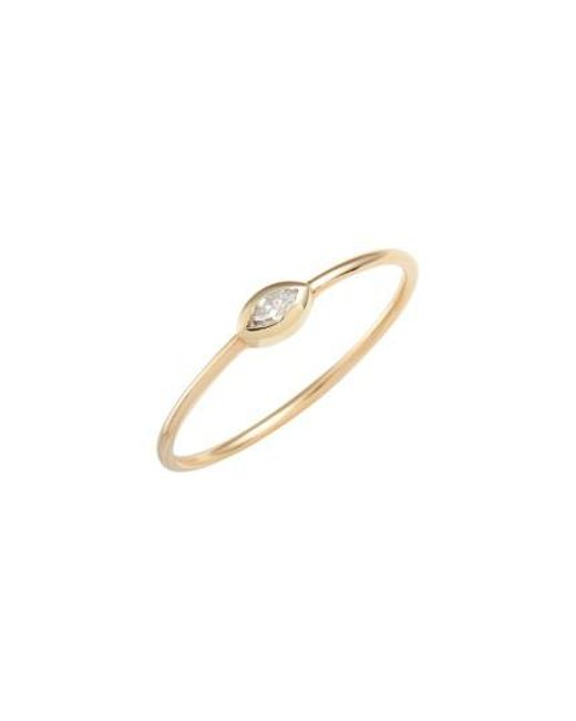 Zoe Chicco | Metallic Marquise Diamond Stackable Ring | Lyst