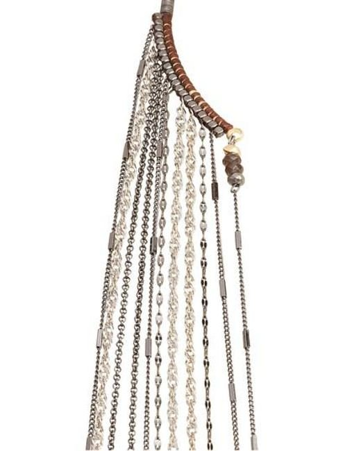 Nakamol | Gray Chain Fringe Half Necklace | Lyst