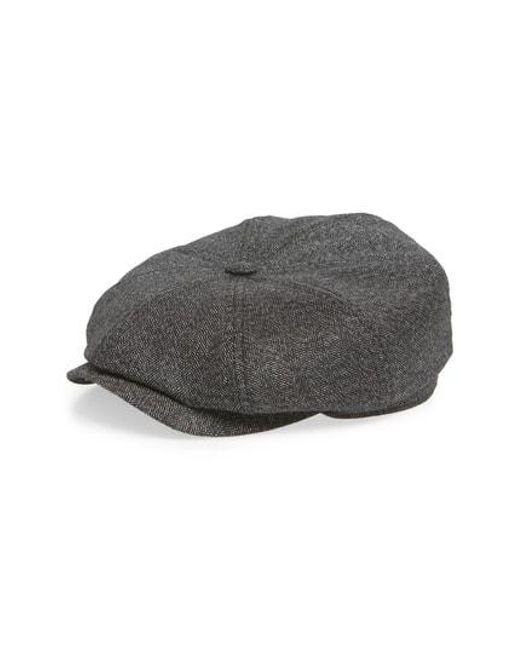 c624d2f8efd ... Ted Baker - Gray Tspoon Baker Boy Hat In Herringbone for Men - Lyst  free delivery ...