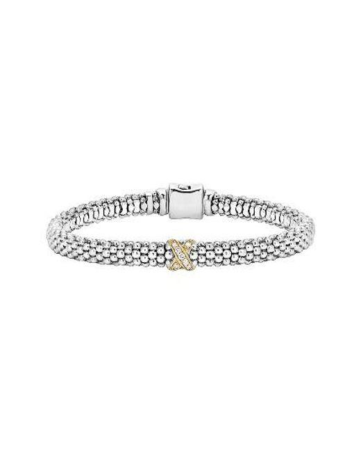 Lagos | Metallic Caviar 'signature Caviar' Diamond Rope Bracelet | Lyst