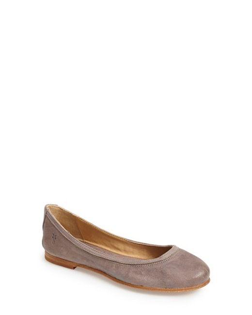 Frye | Brown 'carson' Ballet Flat | Lyst