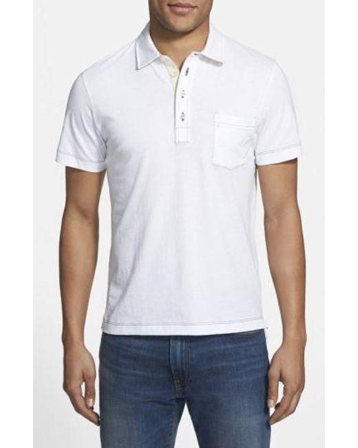 Billy Reid | White Pensacola Slim Fit Polo for Men | Lyst