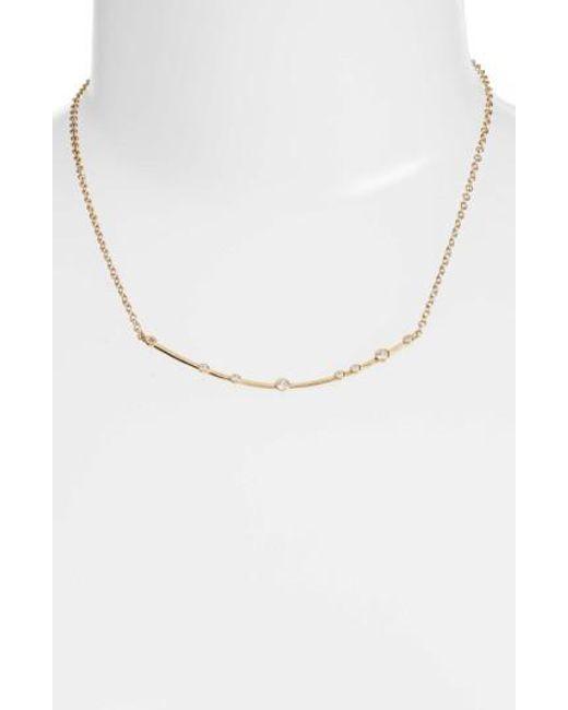 Melinda Maria - Metallic Crescent Necklace - Lyst