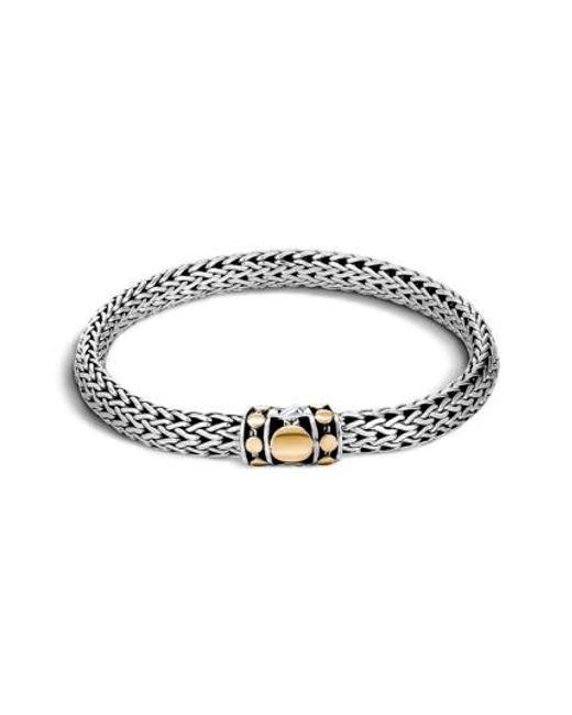 John Hardy | Metallic 'dot' Gold & Silver Chain Bracelet | Lyst