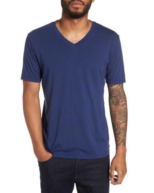 Goodlife - Blue V-neck T-shirt for Men - Lyst