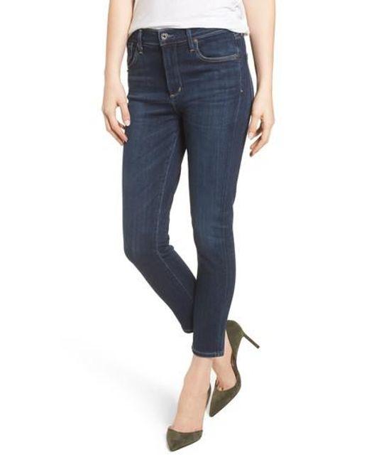 Agolde - Blue Sophie High Waist Crop Skinny Jeans - Lyst