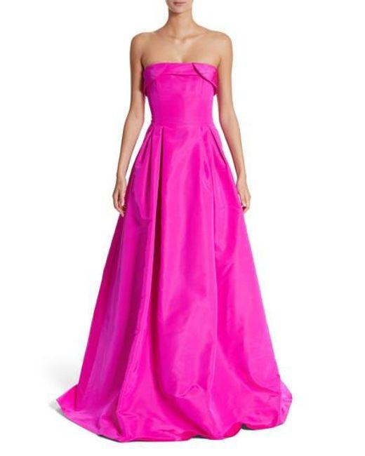 Sachin & Babi | Pink Foldover Strapless Ballgown | Lyst