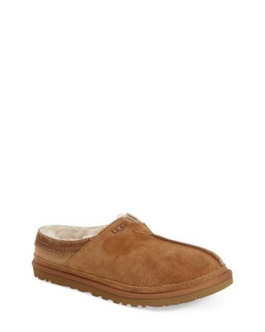 Ugg | Brown Ugg Neuman Slipper for Men | Lyst