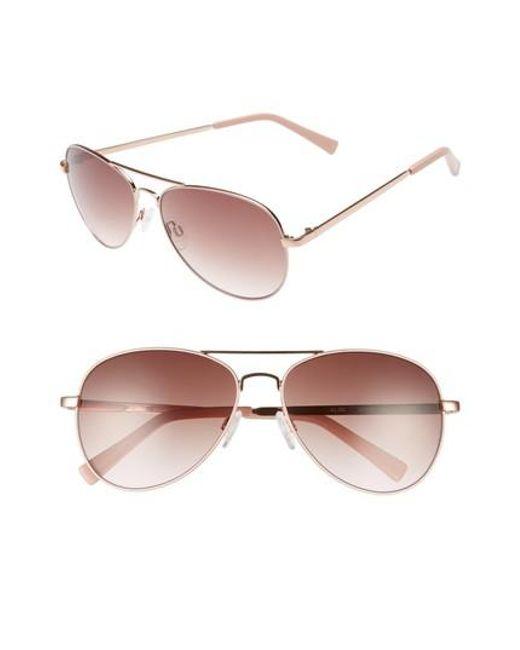 97a7571988ce Chelsea28 - Multicolor Alibi 59mm Metal Aviator Sunglasses - Lyst
