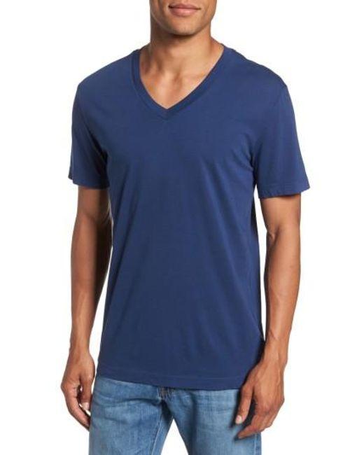 James Perse | Black Short Sleeve V-neck T-shirt for Men | Lyst