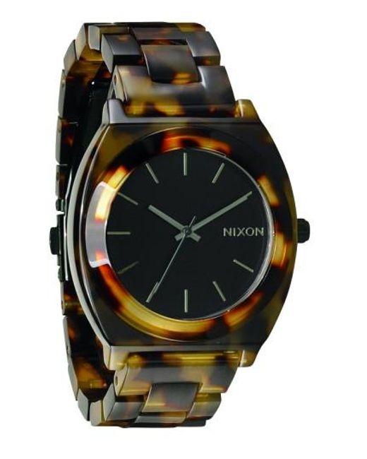 Nixon | Brown 'the Time Teller' Watch | Lyst