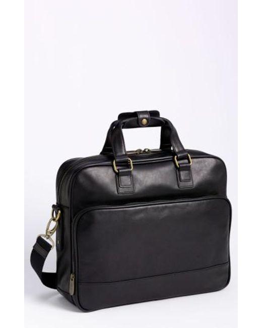 Bosca | Black Top Zip Leather Briefcase for Men | Lyst