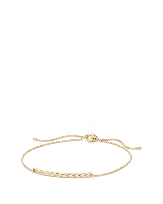 David Yurman - Metallic Petite Paveflex 18k Gold & Diamond Station Bracelet - Lyst