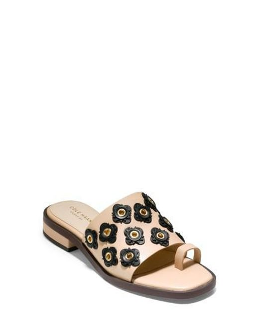 Cole Haan - Black Carly Floral Sandal - Lyst