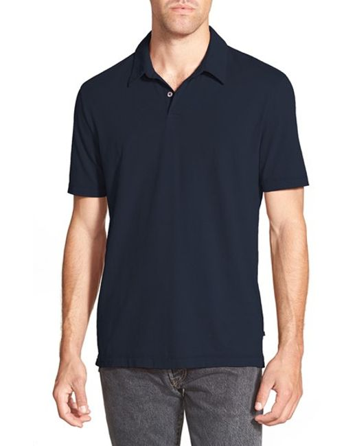 James Perse | Blue Slim Fit Sueded Jersey Polo for Men | Lyst