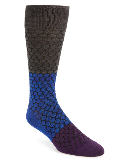 Calibrate - Blue Honeycomb Colorblock Socks for Men - Lyst