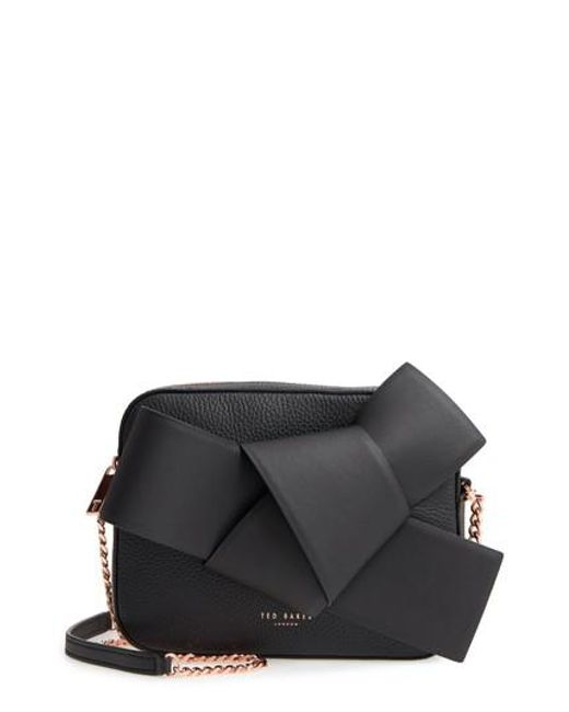 Ted Baker - Black Giant Knot Leather Camera Bag - Lyst