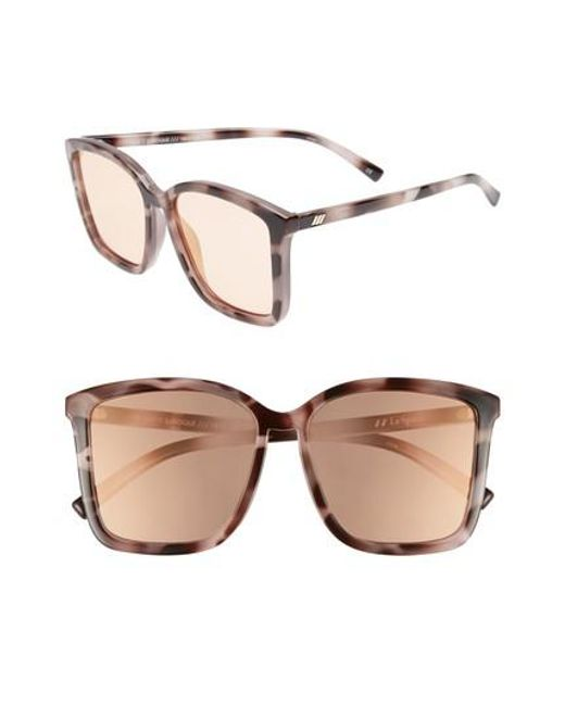 Le Specs - Brown It Ain't Baroque 55mm Sunglasses - Apricot Tort - Lyst