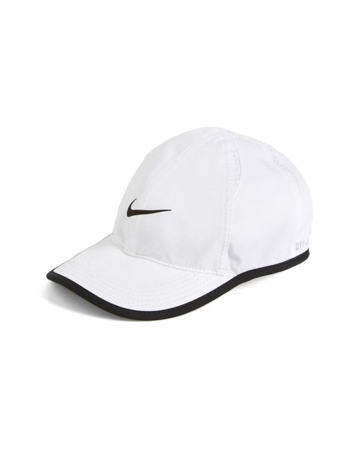 Nike - White 'feather Light' Dri-fit Cap - Lyst