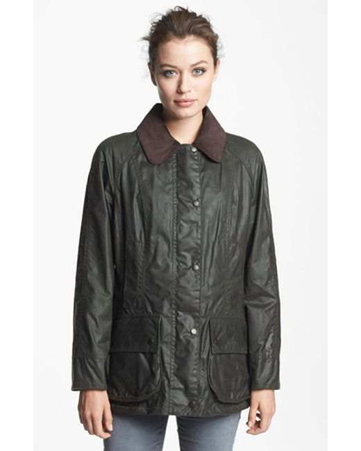 Barbour | Green Beadnell Waxed Cotton Jacket | Lyst