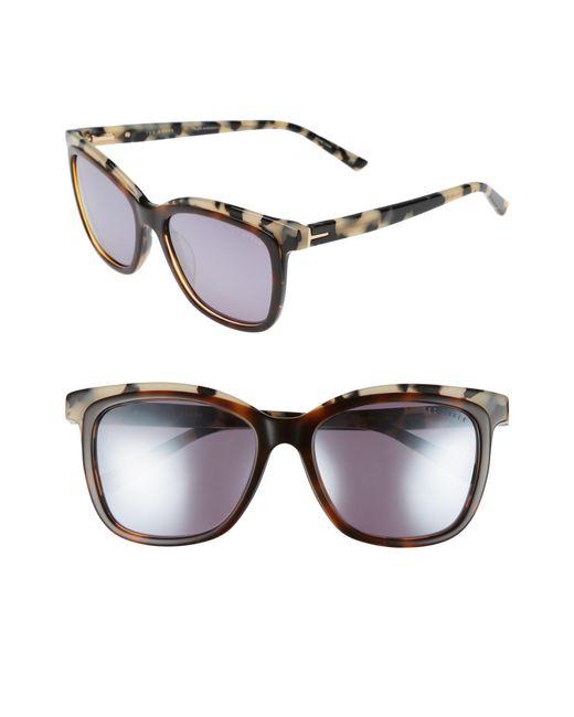 Ted Baker - Brown 54mm Polarized Cat Eye Sunglasses - Lyst