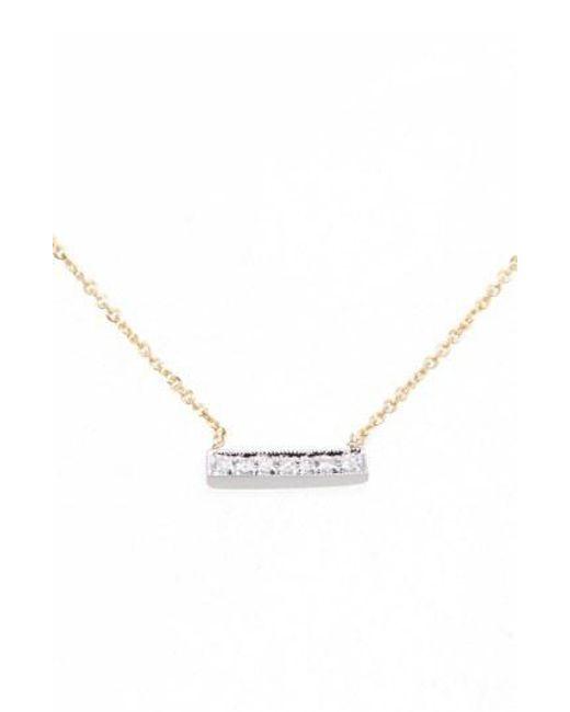 Dana Rebecca - Yellow 'sylvie Rose' Diamond Bar Pendant Necklace - Lyst