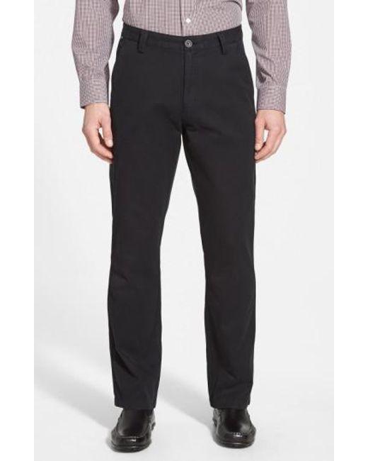 Cutter & Buck - Black 'beckett' Straight Leg Washed Cotton Pants for Men - Lyst