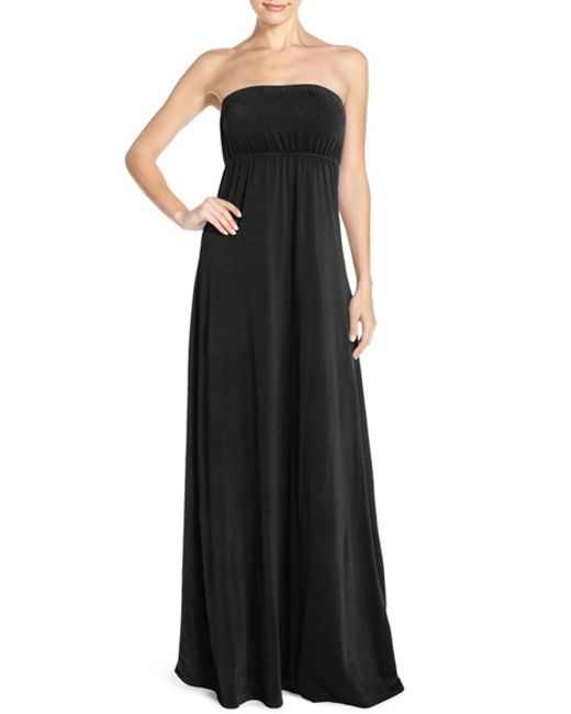 Hard Tail | Black Long Strapless Dress | Lyst