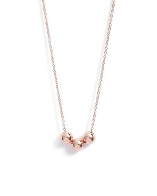 Gorjana | Metallic Newport Beaded Necklace | Lyst