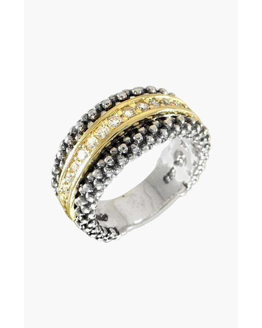 Lagos | Metallic Diamonds & Caviar Ring | Lyst