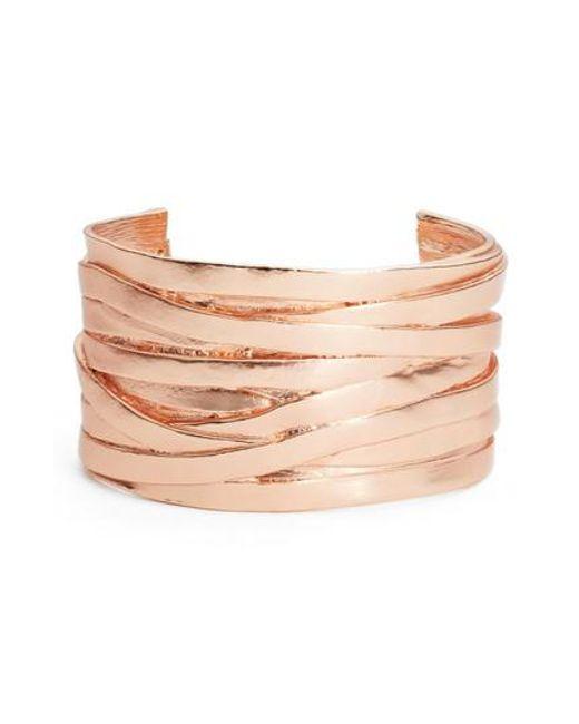 Karine Sultan | Pink Angelique Wrist Cuff | Lyst