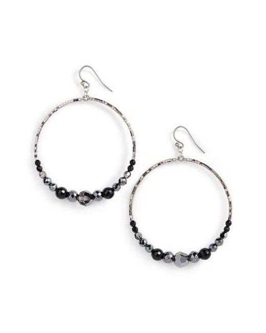 Chan Luu | Metallic Semiprecious Stone Frontal Hoop Earrings | Lyst
