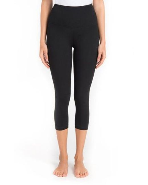 Lyssé | Black Control Top High Waist Capris | Lyst