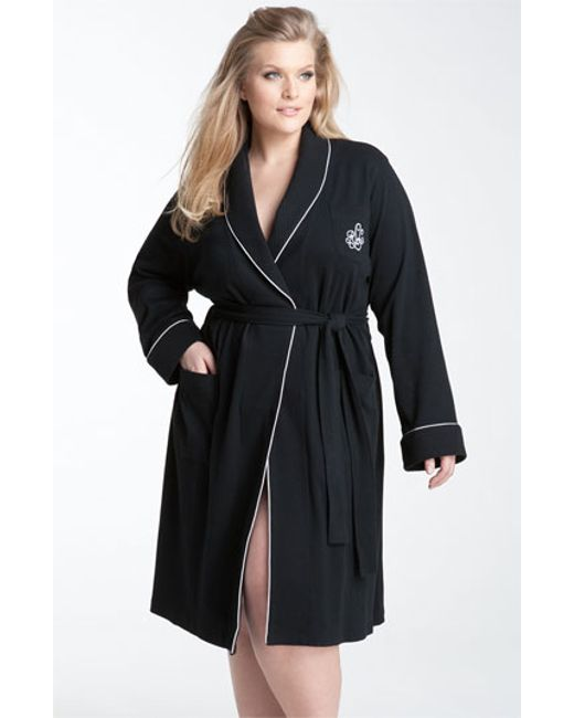 Lauren by Ralph Lauren | Black Shawl Collar Robe | Lyst