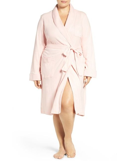 Lauren by Ralph Lauren | Pink Shawl Collar Robe | Lyst