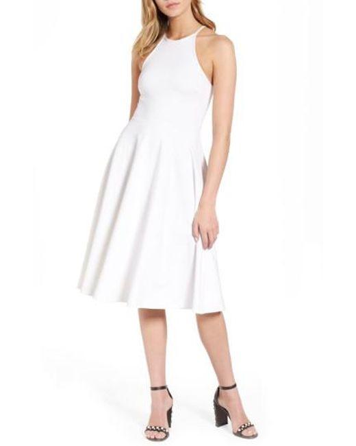 Soprano | White Knit Midi Dress | Lyst