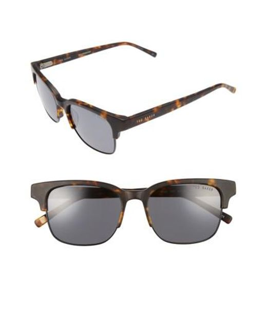 Ted Baker | Black 54mm Polarized Sunglasses | Lyst