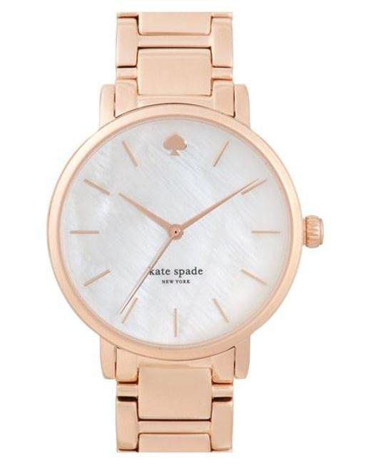 Kate Spade   Metallic 'gramercy' Bracelet Watch   Lyst