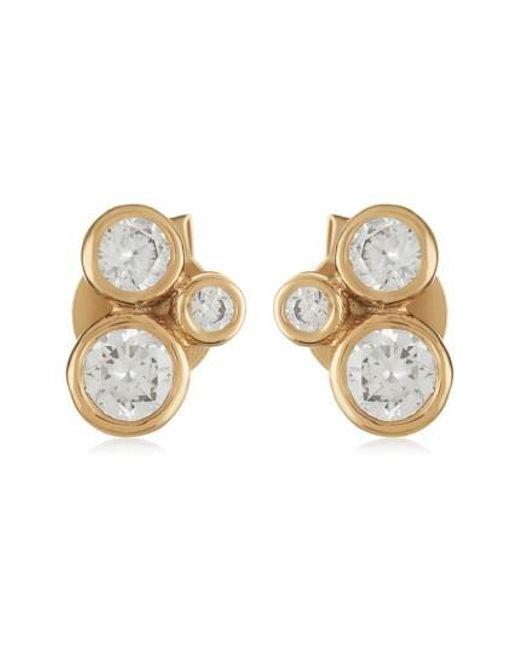 Melinda Maria   Metallic Jasmine Stud Earrings   Lyst