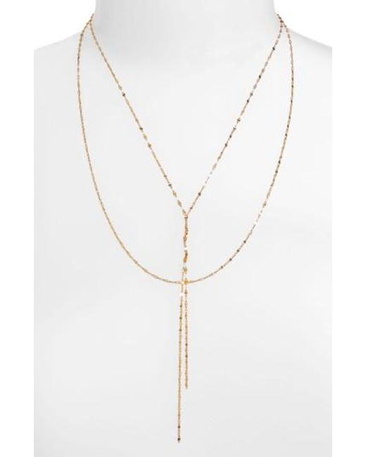 Lana Jewelry | Metallic 'blake' Lariat Necklace | Lyst