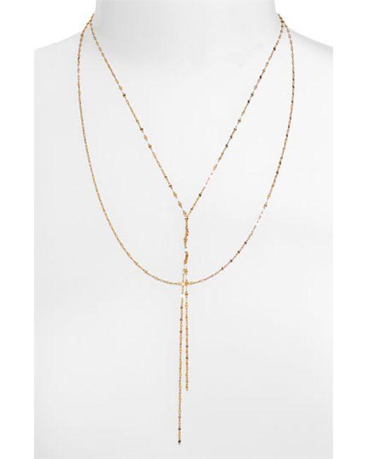 Lana Jewelry | Yellow 'blake' Lariat Necklace | Lyst