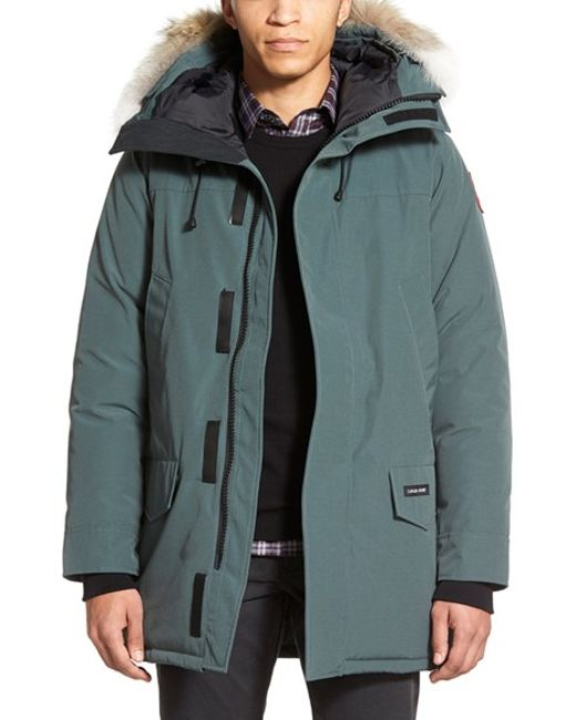 Canada Goose | Gray Langford Slim Fit Down Parka With Genuine Coyote Fur Trim for Men | Lyst