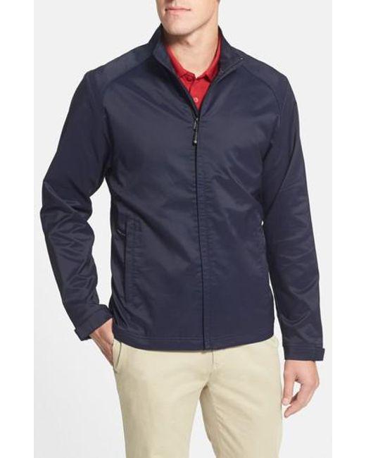 Cutter & Buck - Blue Blakely Weathertec Wind & Water Resistant Full Zip Jacket for Men - Lyst